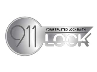 911 Lock logo design