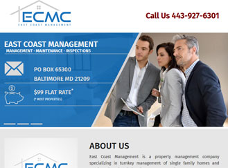 Website design and development for property management company
